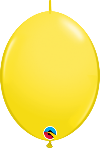 "12"" Quick Link Yellow Qualatex Quick Link Balloons #65214 - Pack of 50"