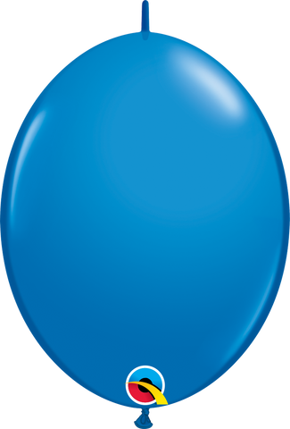 "12"" Quick Link Dark Blue Qualatex Quick Link Balloons #65215 - Pack of 50"