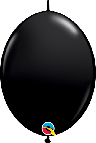 "12"" Quick Link Onyx Black Qualatex Quick Link Balloons #65216 - Pack of 50"