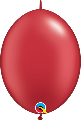 "12"" Quick Link Pearl Ruby Red Qualatex Quick Link Balloons #65291 - Pack of 50"