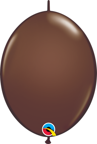 "12"" Quick Link Chocolate Brown Qualatex Quick Link Balloons #65332 - Pack of 50"