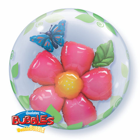 "24"" Double Bubble Leaves Flower #68806 - Each"
