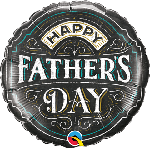 "09"" Round Foil Father's Day Chalkboard #73645 - Each (Unpkgd.)"
