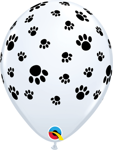 "11"" Round White Paw Prints-A-Round #76892 - Pack of 50"