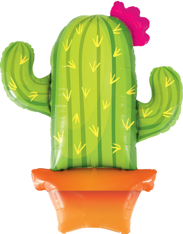 "41"" Shape Foil Potted Cactus SW #78652 - Each (pkgd.)"