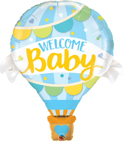 "42"" Shape Foil Welcome Baby Blue Balloon SW #78654 - Each (pkgd.)"