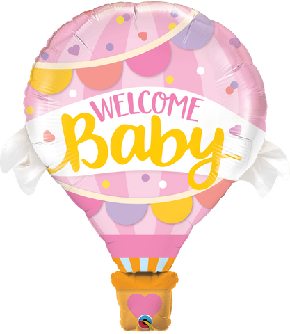 "42"" Shape Foil Welcome Baby Pink Balloon SW #78656 - Each (pkgd.)"