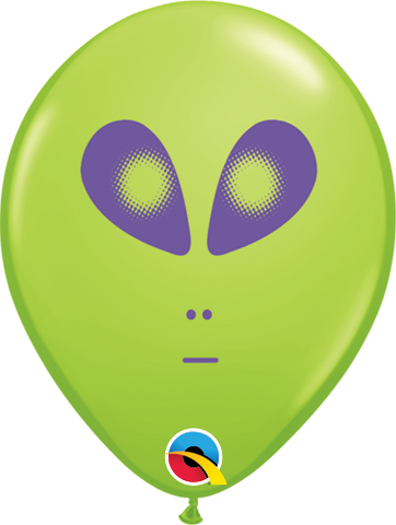 "05"" Round Lime Green Space Alien #79711 - Pack of 100"