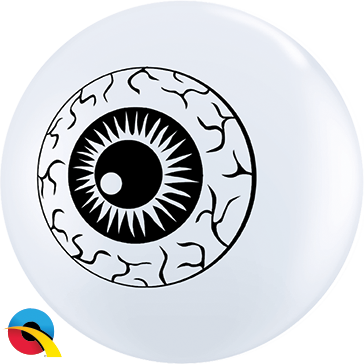 "05"" Round White Eyeball Topprint #84895 - Pack of 100"