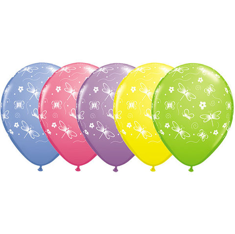 "11"" Round Spring Assorted Butterflies&Dragonflies-A-Round #86292 - Pack of 50"