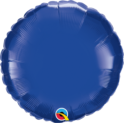"18"" Round Foil Dark Blue Plain Foil #87141 - Each (Unpkgd.)"