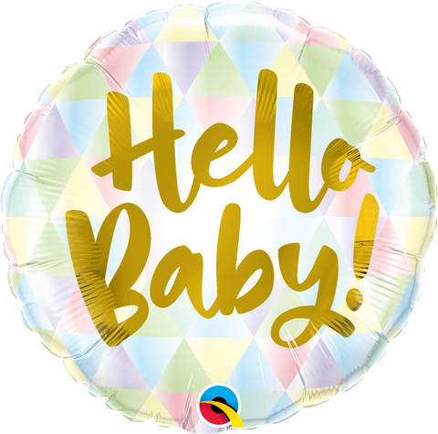 "18"" Round Foil Hello Baby #88007 - Each (Pkgd.)"