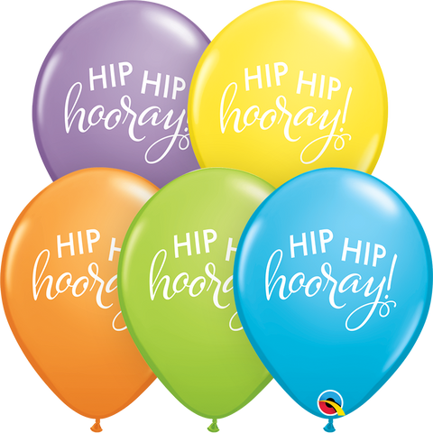 "11"" Round Bright Pastel Assorted Simply Hip Hip Hooray #88268 - Pack of 50"