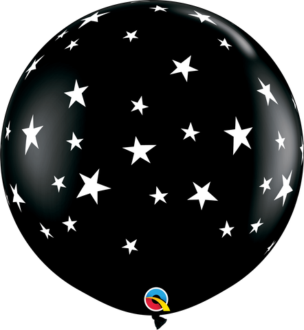 3ft Round Onyx Black Contempo Stars-A-Round #88280 - Pack of 2