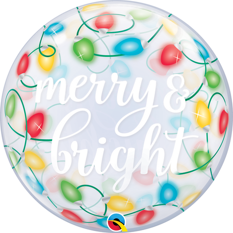 "22"" Single Bubble Merry & Bright Lights #89736 - Each"