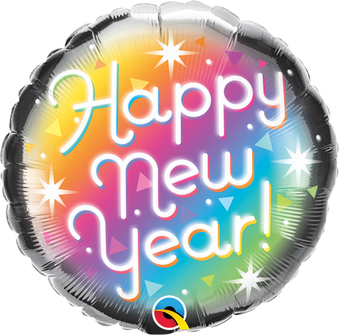 "18"" Round Foil New Year Prismatic #89882 - Each (Pkgd.)"