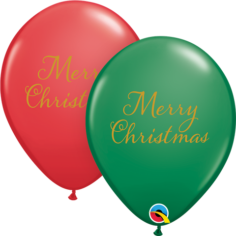 "11"" Round Green & Red Simply Merry Christmas #90224 - Pack of 50"