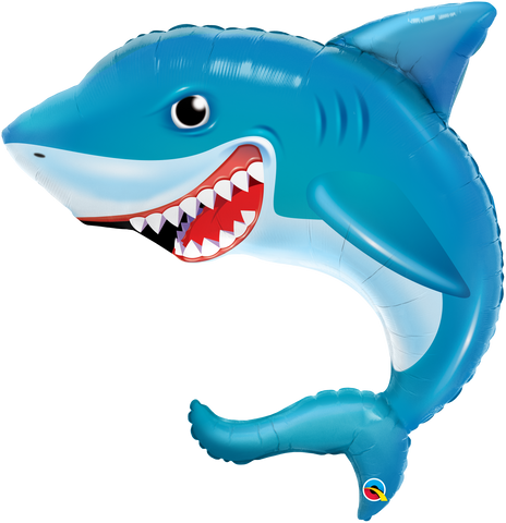 "36"" Shape Foil Smilin' Shark SW #97525 - Each (pkgd.)"