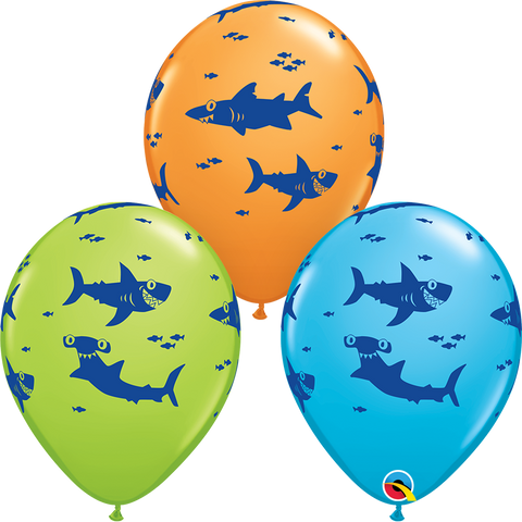 "11"" Round Assorted Fun Sharks! #97535 - Pack of 50"