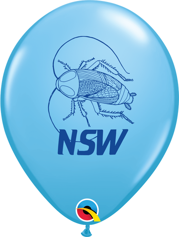 "11"" Round Pale Blue NSW Cockroach #97634 - Pack of 25"