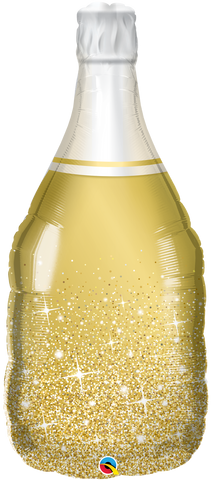 "39"" Shape Foil Golden Bubbly Wine Bottle SW #98219 - Each (pkgd.)"