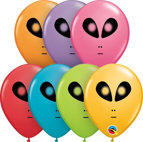 "05"" Round Festive Assorted Space Alien #98601 - Pack of 100"