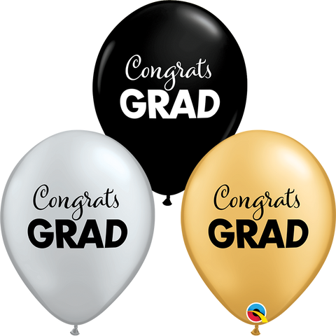 "11"" Round Special Asst Simply Congrats Grad #98618 - Pack of 50"