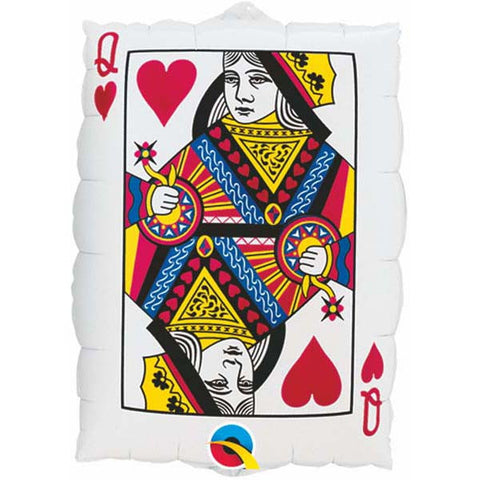 "30"" Shape Foil Card Queen Of Hearts/Ace Of Spades SW #16310 - Each (pkgd.)"