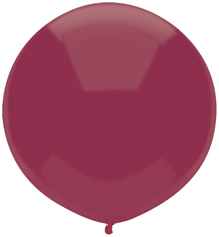 "17"" Round Deep Burgundy Outdoor Balloon #84287 - Pack of 50"