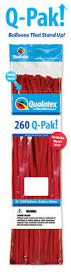 260 Q-Pak Red Qualatex Plain Latex #54616 - Pack of 50