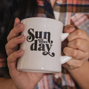 Sunday Slow Down Mug