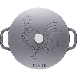 STAUB CAST IRON 3.75-QT ESSENTIAL FRENCH OVEN ROOSTER