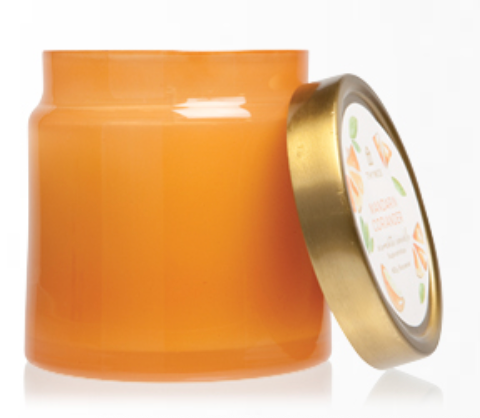 MANDARIN CORIANDER STATEMENT POURED CANDLE