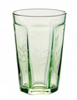 Arcadia Glass Etched Bistro Green
