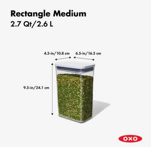 OXO POP Container, Rectangle Medium 2.7 qt.