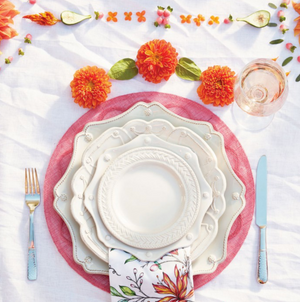 Berry & Thread Whitewash Scalloped Charger Plate
