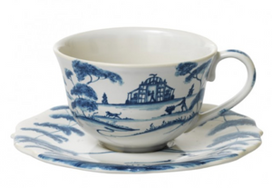 Country Estate Delft Blue Saucer Garden Follies