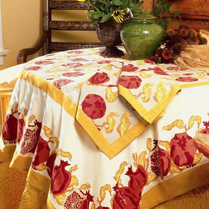 French Tablecloth Pomegranate