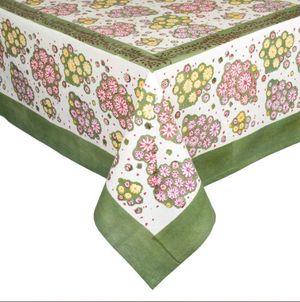 French Tablecloth Marguerites Yellow/Pink