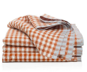 Two-Tone Gingham Napkin Cognac & Blue