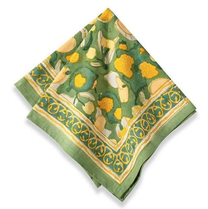Fruit Napkin Yellow & Green