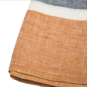 Bold Stripe Linen Rust Kitchen Towel