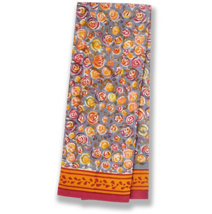 Autumn Bouquet Tea Towels Orange & Grey