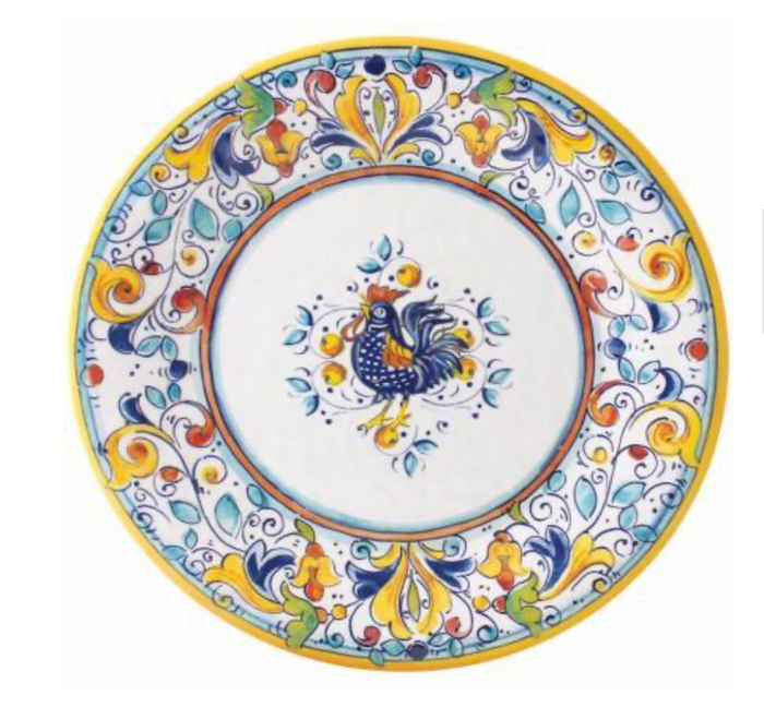 Le Cadeaux Florence Rooster Dinner Plate