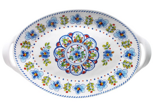Le Cadeaux Two Handled Oval Tray