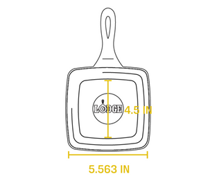 5.5 Inch Square Cast Iron Skillet