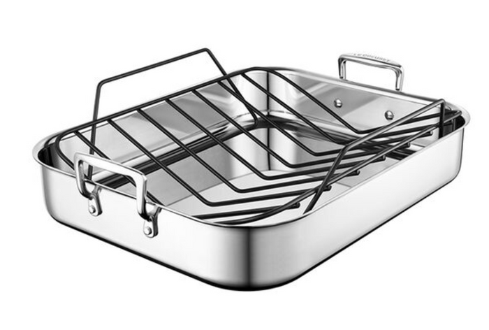 Stainless Steel Roasting Pan with Nonstick Rack