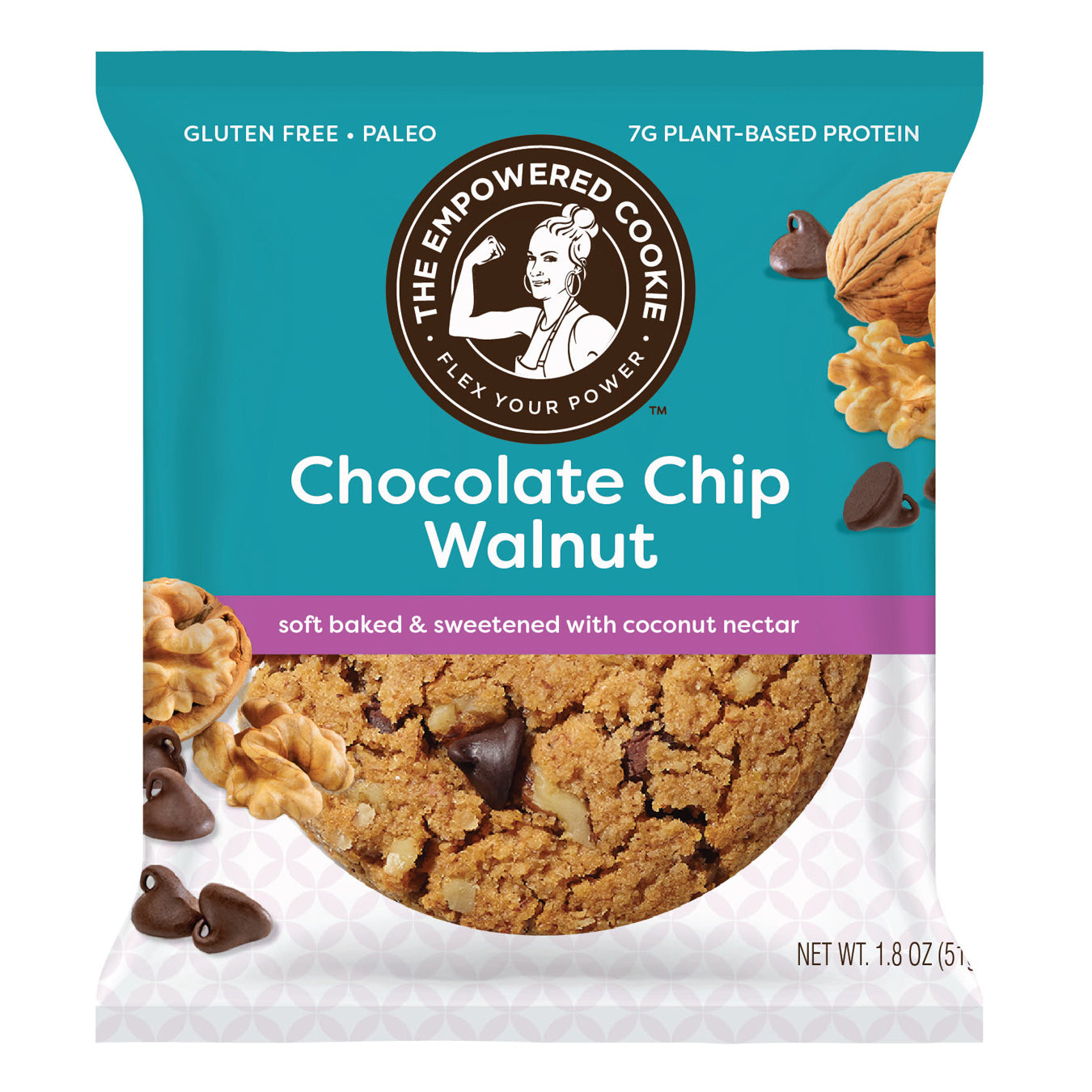 Chocolate Chip Walnut, The Empowered Cookie (12 Pack)