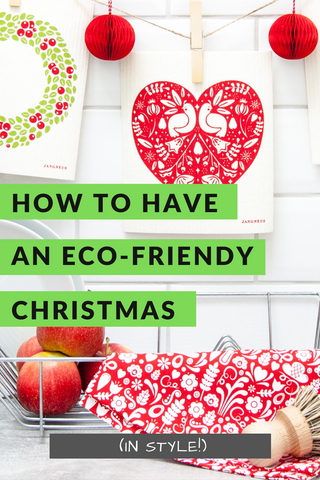 How to have an eco friendly christmas pinterest pin
