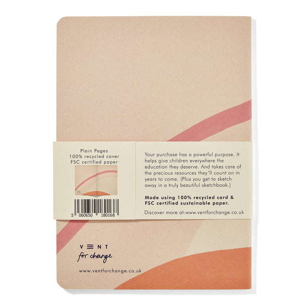 Recycled Soft Cover Notebook - Cream Lined